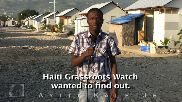 "Reporting on ""aid"" and reconstruction in Haiti"